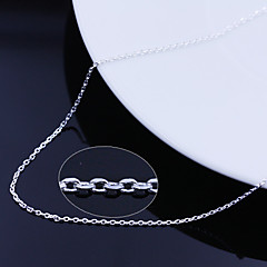 cheap Beads & Jewelry Making-Women's Silver Plated Chain Necklace  -  Silver Necklace For Wedding Party Daily