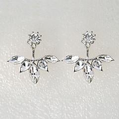 Dames Oorknopjes Kristal Elegant Bruids Kostuum juwelen Kristal Strass Gesimuleerde diamant Legering Bloemvorm Sieraden Voor Bruiloft