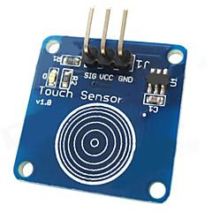 お買い得  センサー-Arduinoのためのタッチセンサ静電容量式タッチ・スイッチ・モジュール - ブルー