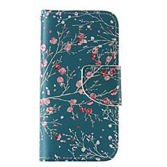 Para Capinha iPhone 5 Carteira / Porta-Cartão / Com Suporte / Flip / Estampada Capinha Corpo Inteiro Capinha Flor Rígida Couro PUiPhone
