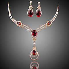 Women's Jewelry Set Multi-stone Luxury Fashion Wedding Party Special Occasion Anniversary Birthday Engagement Gift Daily Zircon Cubic