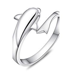 preiswerte Ringe-Damen Bandring - Sterling Silber Verstellbar Silber Für Party / Alltag / Normal