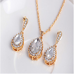 cheap Jewelry Sets-Women's Pearl Cubic Zirconia Jewelry Set Earrings Necklace - Cute Party Work Gold White Jewelry Set For