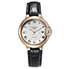 お買い得  メンズ腕時計-男性用 リストウォッチ クォーツ 30 m 耐水 レザー バンド ハンズ チャーム ブラック / ブラウン - ブラック ホワイトとブラック ホワイト / ブラウン