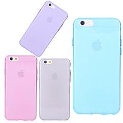 Недорогие Кейсы для iPhone X-Кейс для Назначение Apple iPhone X / iPhone 8 / iPhone 6 Plus Прозрачный Кейс на заднюю панель Однотонный Мягкий ТПУ для iPhone X / iPhone 8 Pluss / iPhone 8