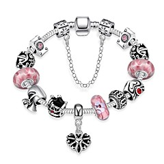 preiswerte Armbänder-Damen Armband - versilbert Herz Modisch Armbänder Rosa Für Hochzeit Arbeit