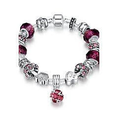 preiswerte Armbänder-Damen Bettelarmbänder / Vintage Armbänder - versilbert Armbänder Purpur / Blau / Rosa Für Weihnachts Geschenke / Party / Alltag