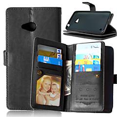 baratos -Para Capinha Nokia Carteira / Porta-Cartão / Com Suporte Capinha Corpo Inteiro Capinha Cor Única Rígida Couro PU NokiaNokia Lumia 930 /