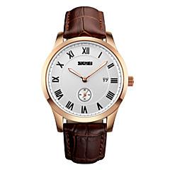 preiswerte Tolle Angebote auf Uhren-Herrn Armbanduhr Quartz Schwarz / Braun 30 m Wasserdicht Kalender Analog Luxus - Schwarz Gold / Weiß Goldenschwarz / Edelstahl
