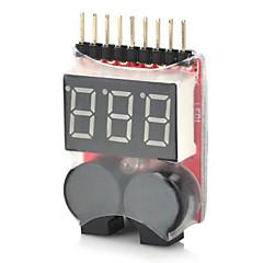 2-w-1 1 ~ 8s niskie napięcie baterii lipo alarm dźwiękowy dla rc helikopter