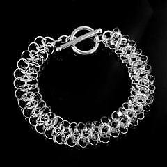 Fashion Circle Ripple 925 Silver Sterling Chain & Link Bracelets For Woman&Lady