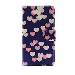 Недорогие Кейсы для iPhone 7 Plus-Кейс для Назначение Apple iPhone 7 Plus iPhone 7 Бумажник для карт Кошелек со стендом Флип Чехол С сердцем Твердый Кожа PU для iPhone 7