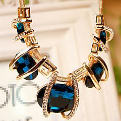 Mujer Strands Collares Cristal Cristal Brillante La imitación de diamante Legierung Moda Verde Azul Joyas Fiesta Diario 1 pieza