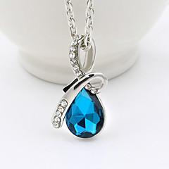 preiswerte Halsketten-Damen Kristall Anhängerketten - Krystall Tropfen Modisch Gelb, Rot, Blau Modische Halsketten Für Hochzeit, Party, Alltag