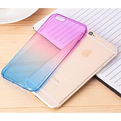 voordelige iPhone 6 hoesjes-hoesje Voor Apple iPhone 6 iPhone 6 Plus Transparant Achterkant Kleurgradatie Zacht TPU voor iPhone 6s Plus iPhone 6s iPhone 6 Plus