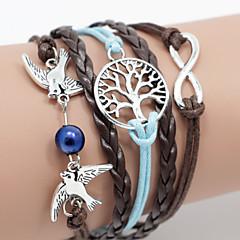 abordables Bijoux pour Femme-Bracelet de cheville Bracelets en cuir Bracelet - Rétro, Décontracté, Cuir Bracelet Bleu Pour Cadeau Valentin