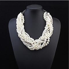 preiswerte Halsketten-Damen Perle Mehrschichtig Statement Ketten / Layered Ketten / Perlenkette - Perle Europäisch, Modisch, Erklärung Farbbildschirm Modische Halsketten Für