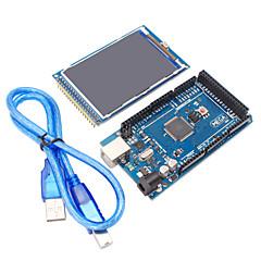 Mega2560 r3 + 3,2 pulgadas tft ips 480 x 320 de color módulo LCD de ángulo completo para arduino