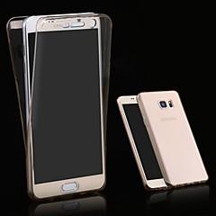 Для Samsung Galaxy Note Флип / Прозрачный Кейс для Задняя крышка Кейс для Один цвет TPU Samsung Note 5 Edge / Note 5