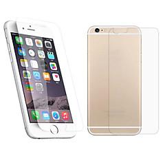 Недорогие Защитные пленки для iPhone 6s / 6-Защитная плёнка для экрана Apple для iPhone 6s Plus iPhone 6 Plus Закаленное стекло 1 ед. Защитная пленка для экрана и задней панели