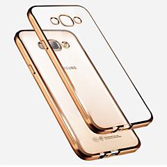 halpa Galaxy A7 kotelot / kuoret-Etui Käyttötarkoitus Samsung Galaxy Samsung Galaxy kotelo Pinnoitus Läpinäkyvä Takakuori Yhtenäinen väri TPU varten A7 A5