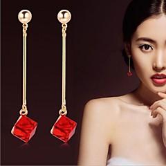 preiswerte Ohrringe-Damen Kristall Tropfen-Ohrringe - Krystall Brautkleidung Für Hochzeit Party Alltag / Normal