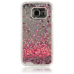 olcso Galaxy S6 tokok-Mert Samsung Galaxy tok Folyékony Case Hátlap Case Szív PC Samsung S6 edge / S6 / S5 / S4