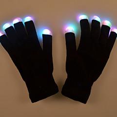 dom Dia dos Namorados criativo as luvas brilho trajes coloridos luva maquiagem leve lâmpada desempenho prop luz led