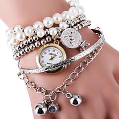 お買い得  大特価腕時計-女性用 クォーツ ブレスレットウォッチ ホット販売 合金 バンド パール ファッション シルバー ゴールド