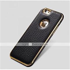 Недорогие Кейсы для iPhone 6-специальная металлическая конструкция бампера рамка из натуральной кожи задняя крышка для iphone 6 плюс (разных цветов)