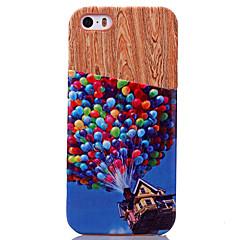 お買い得  iPhone 5S/SE ケース-ケース 用途 iPhone 5 Apple iPhone 5ケース カードホルダー バックカバー 風船 ハード PUレザー のために iPhone SE/5s iPhone 5