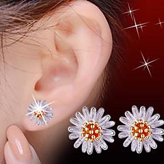 billige Damesmykker-Stangøreringe Sødt Kontor Perle Legering Daisy Blomst Smykker Orange Kostume smykker