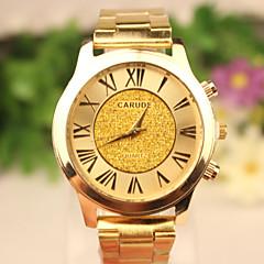 お買い得  メンズ腕時計-男性用 リストウォッチ カジュアルウォッチ ローズゴールドめっき / ステンレス バンド ゴールド