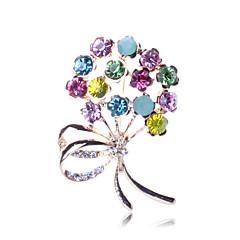 abordables Broches-Mujer Broche - Diamante Sintético Flor Lujo, Fiesta, Moda Broche Arco iris Para Fiesta / Ocasión especial / Cumpleaños