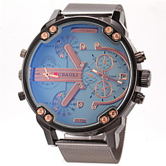 preiswerte Tolle Angebote auf Uhren-JUBAOLI Herrn Militäruhr / Armbanduhr Duale Zeitzonen / Armbanduhren für den Alltag Edelstahl Band Charme Schwarz