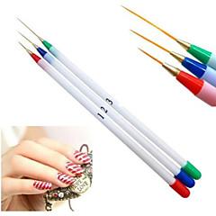 New 3pcs Nail Art Design DIY Acrylic Painting UV Gel Pen Brush Set Nail Products
