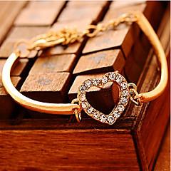 preiswerte Armbänder-Ketten- & Glieder-Armbänder - Kubikzirkonia, Diamantimitate Herz, Liebe Luxus, Einzigartiges Design, Party Armbänder Gold Für Party Geschenk Valentinstag