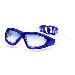 baratos -Óculos de Natação Anti-Nevoeiro silica Gel PC Branco Vermelho Preto Azul Roxo Castanho
