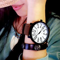 Γυναικεία Μοδάτο Ρολόι Χαλαζίας Δέρμα Μπάντα Μαύρο Καφέ