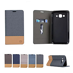 tanie Galaxy A3 Etui / Pokrowce-Kılıf Na Samsung Galaxy Samsung Galaxy Etui Etui na karty Z podpórką Flip Magnetyczne Pełne etui Solid Color Miękkie Skóra PU na A3