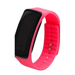 Damskie Sportowy LCD Na codzień Cyfrowe Plastic Pasmo Czarny Biały Niebieski Czerwony Różowy Purpurowy