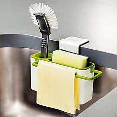 abordables Almacenamiento para la Cocina-cocina cepillo esponja fregadero drenaje drenaje titular con ventosa