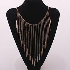 preiswerte Halsketten-Damen Quaste Halsketten / Statement Ketten / Vintage Halskette - Erklärung, Quaste, Europäisch Silber, Bronze, Golden Modische Halsketten Für Party, Alltag, Normal