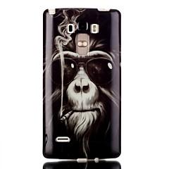 Недорогие Чехлы и кейсы для LG-Назначение Кейс для LG Чехлы панели Прозрачный С узором Задняя крышка Кейс для Животное Мягкий Термопластик для LG LG G4 Stylus / LS770
