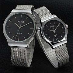 voordelige Horloges voor stelletjes-Heren Dames Voor Stel Modieus horloge Kwarts Legering Band Zilver Goud