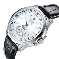 WINNER Αντρικά Ρολόι Φορέματος Ρολόι Καρπού μηχανικό ρολόι Αυτόματο κούρδισμαΗμερολόγιο Ανθεκτικό στο Νερό Καθημερινό Ρολόι Μεγάλο