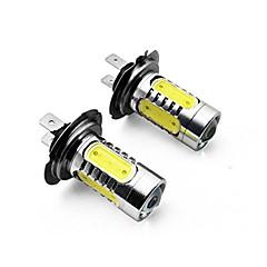 Недорогие Автомобильные фары-2pcs H7 / H4 / 1156 Автомобиль Лампы 7.5 W SMD LED / COB 700 lm Задний свет For Универсальный