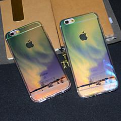 Для Кейс для iPhone 6 Кейс для iPhone 6 Plus Чехлы панели Полупрозрачный С узором Задняя крышка Кейс для Пейзаж Мягкий Термопластик для