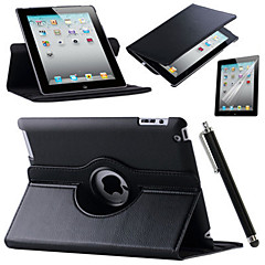 abordables Carcasas y Fundas para iPad Air-Funda Para Apple Mini iPad 3/2/1 iPad 4/3/2 iPad Air 2 iPad Air con Soporte Origami Rotación 360º Funda de Cuerpo Entero Color sólido Dura
