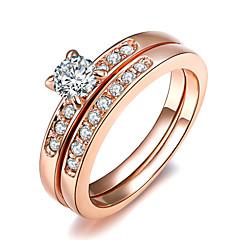 Anillos de Diseño Cristal La imitación de diamante Legierung Clásico Moda Plata Dorado Joyas Boda Fiesta 1 pieza